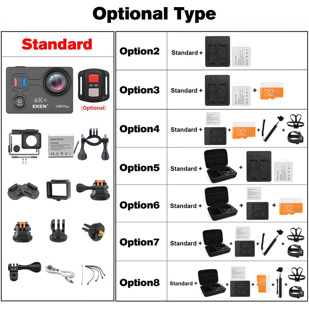 H9R Plus Action Camera Ultra HD 4k/30fps 1080p/60fps